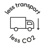 less transport less CO2