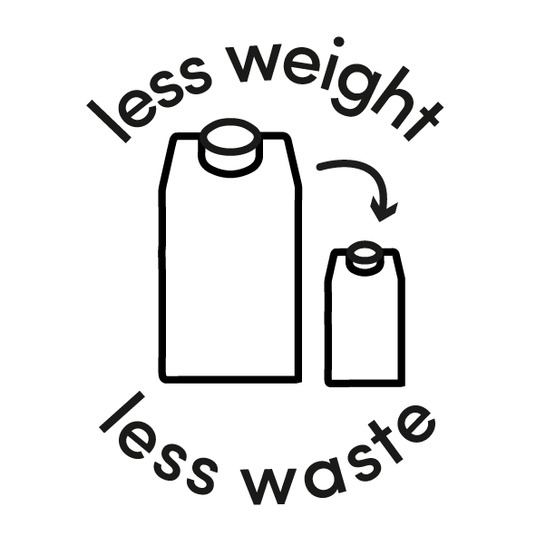 less weight less waste