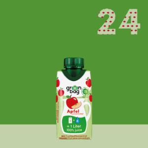 Green-Bag Bio Fruchtsaftkonzentrat Apfel 24 Packungen