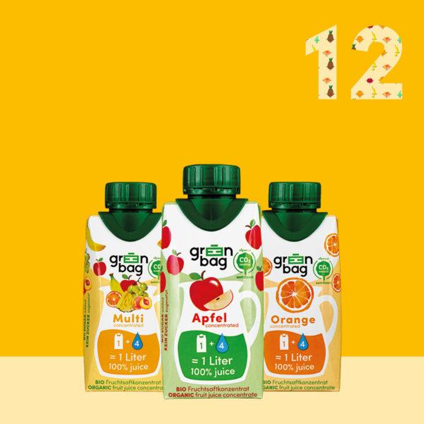 Green-Bag Bio Fruchtsaftkonzentrate 12er Mix