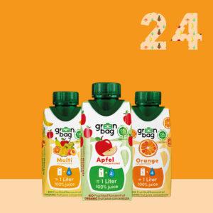 Green-Bag Bio Fruchtsaftkonzentrate 24er Mix