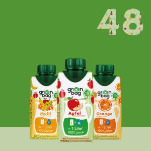 Green-Bag Bio Fruchtsaftkonzentrate 48er Mix