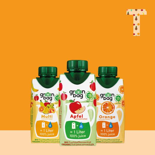 Green-Bag Bio Fruchtsaftkonzentrat Probierpaket