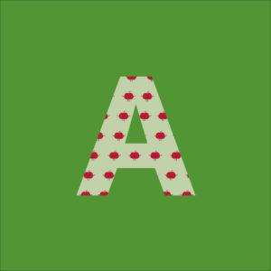 Der Green-Bag Buchstabe A