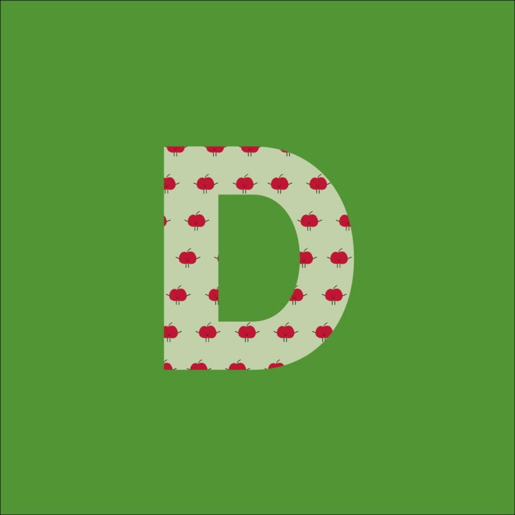 Der Green-Bag Buchstabe D