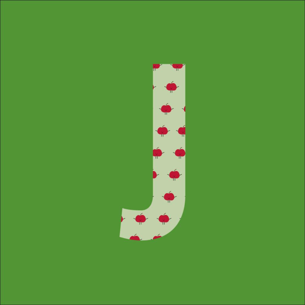 Der Green-Bag Buchstabe J