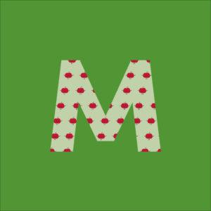 Der Green-Bag Buchstabe M