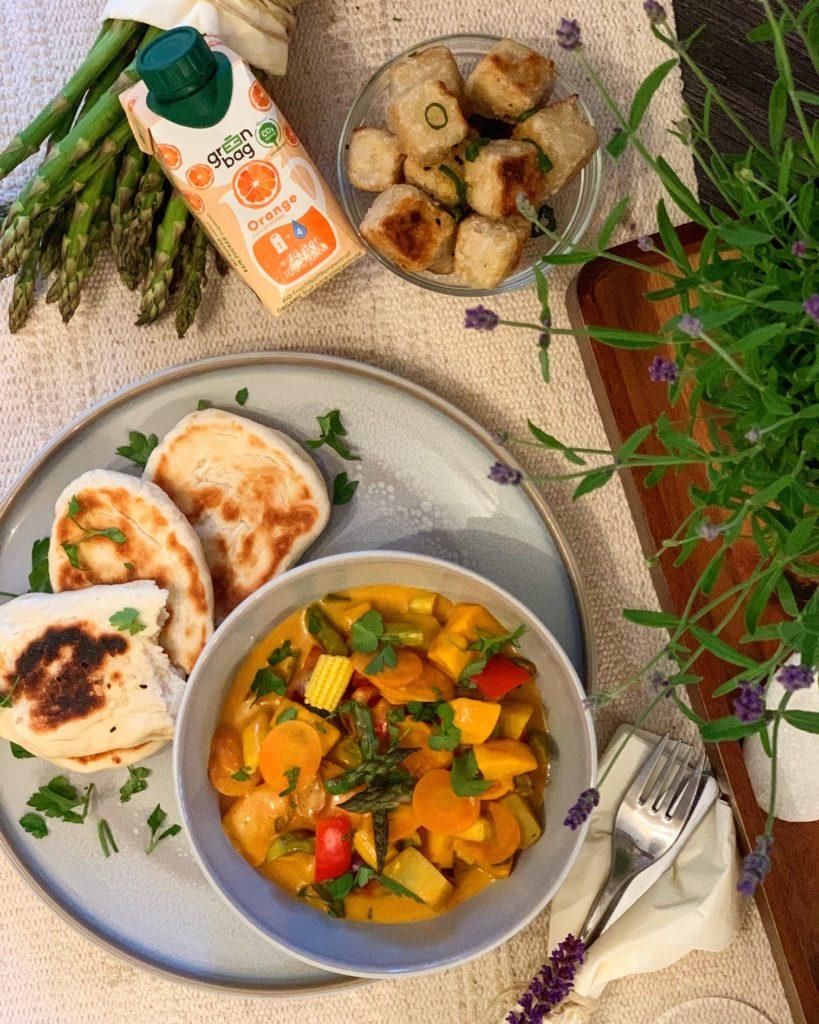 Orangen-Curry Vegan