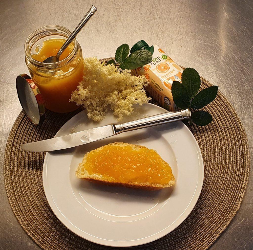 Orangen Holunderblütengelee