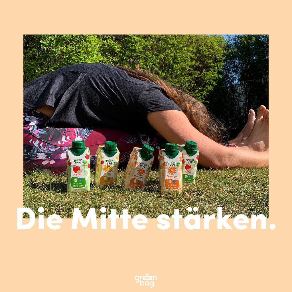 Yoga und Green-Bag