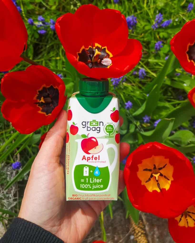 Green-Bag Bio Fruchtsaftkonzentrat Apfel mit Tulpen