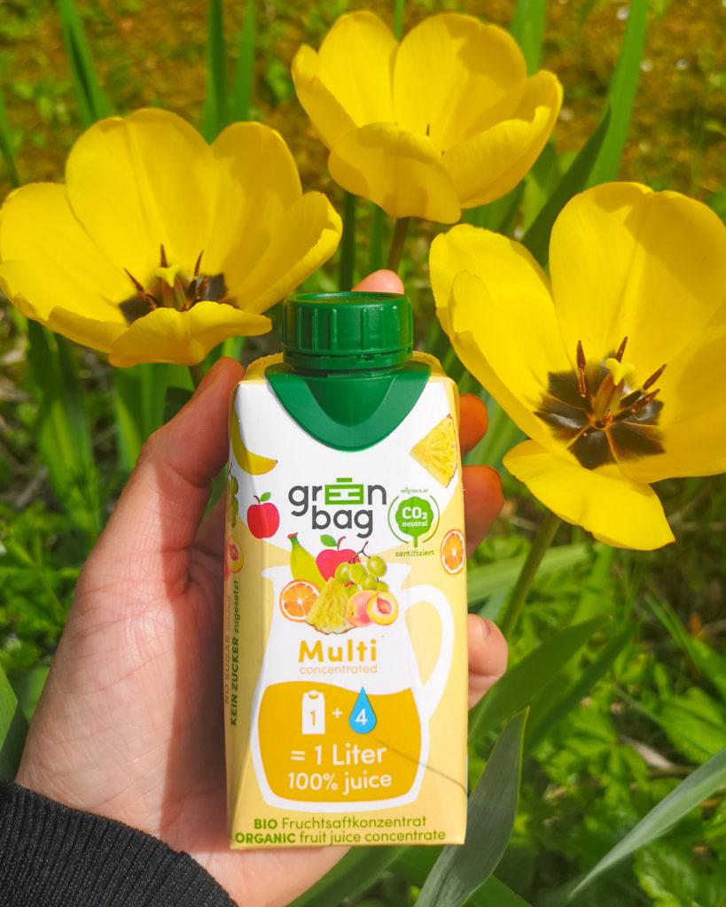 Green-Bag Bio Fruchtsaftkonzentrat Multifrucht mit Tulpen