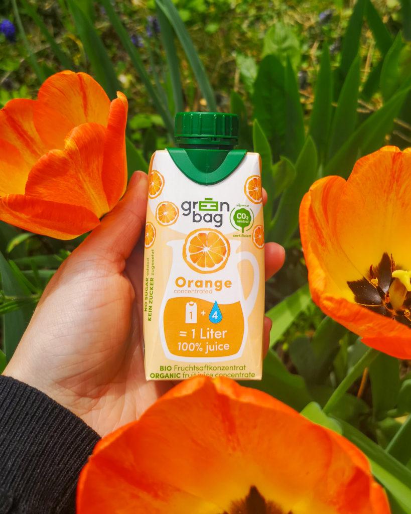 Green-Bag Bio Fruchtsaftkonzentrat Orange mit Tulpen